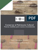 Conservar El Patrimonio Cultural Nuevas Medidas Para Nuevas Circunstancias