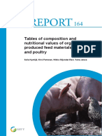 Tables Composition Nutritional Values Organically Feed Materials Pigs Poultry