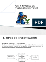 Tipos y Niveles de Investigación Científica