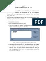 Pembuatan Form Untuk Aplikasi