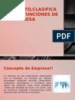 la empresa clasificación y funciones