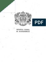 PSB 40 Sfantul Chiril al Alexandriei, Scrieri III ( Despre Sfanta Treime )