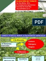 Fertilización del Tomate 2016