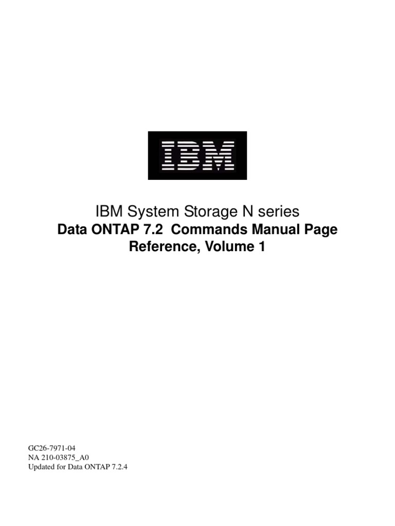 ibm system storage n series data ontap 7 2 commands manual page rh scribd com ibm system management ibm system x3400 manual