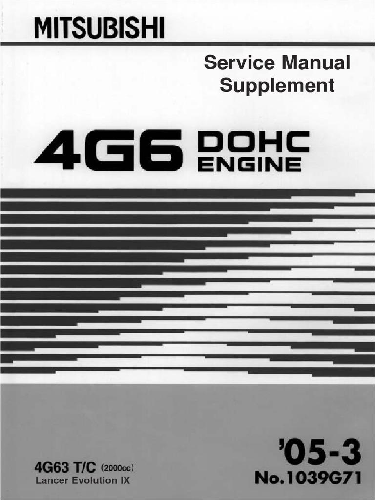 238934265 Mitsubishi Galant 4g63 Engine Repair Manual  1
