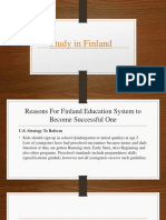 Reasons For Finland Education System to Become Successful One