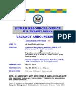 VA Announcement 038 2010
