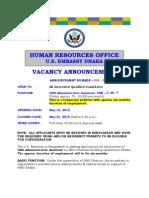 VA Announcement 041 2010