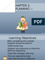 Chapter 2 -Planning