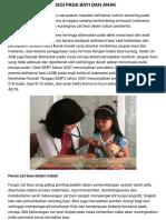 Idai - Anemia Defisiensi Besi Pada Bayi Dan Anak