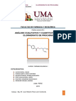 Clorhidrato de Procaina Informe Nº2