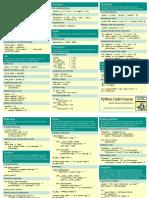 Beginners Python Cheat Sheet Pcc All