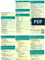 Beginners Python Cheat Sheet Pcc All