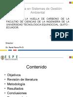Huella de carbono Universidad Tecnológica Equinoccial