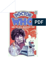 Dr. Who - The Fourth Doctor 33 - The Well Mannered War