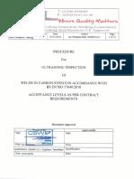 IWWI Procedure for Ultrasonic Inspection