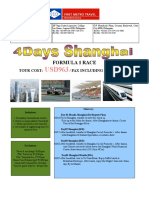 Announcement From FMTI - 4Days Shanghai - Formula 1 Race Promo