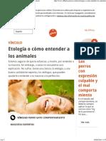 Etología o Cómo Entender a Los Animales Affinity Petcare