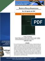 Boletín - Nuevas adquisiciones Centro de Documentación FCSH- Agosto
