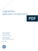 Cogeneration Application Considerations