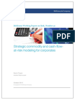Strategic Commodity and Cash flow at risk Modeling