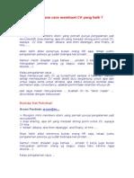 Bagaimana Cara Membuat CV Yang Baik