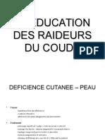 Reeducation Raideur Coude