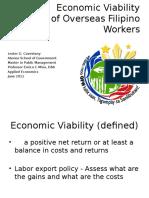 Cavestany_Economic Viability of OFWs
