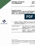 Ntc 5474 (2007-03-22) Suministro Para Uso en Laboratorio