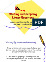 writing and graphing linear equations 1  1