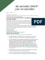 Unción de Servidor DHCP