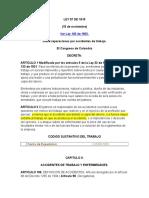 evolución del concepto de accidente de trabajo en colombia