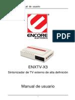 Enxtv-x3 User Manual Sp101130