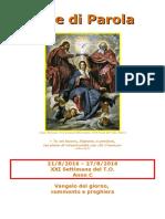 Sete di Parola - XXI settimana C 2016.doc