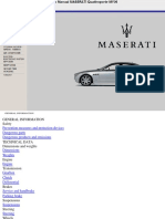 Maserati QP 2006 - 2007 Workshop Manual