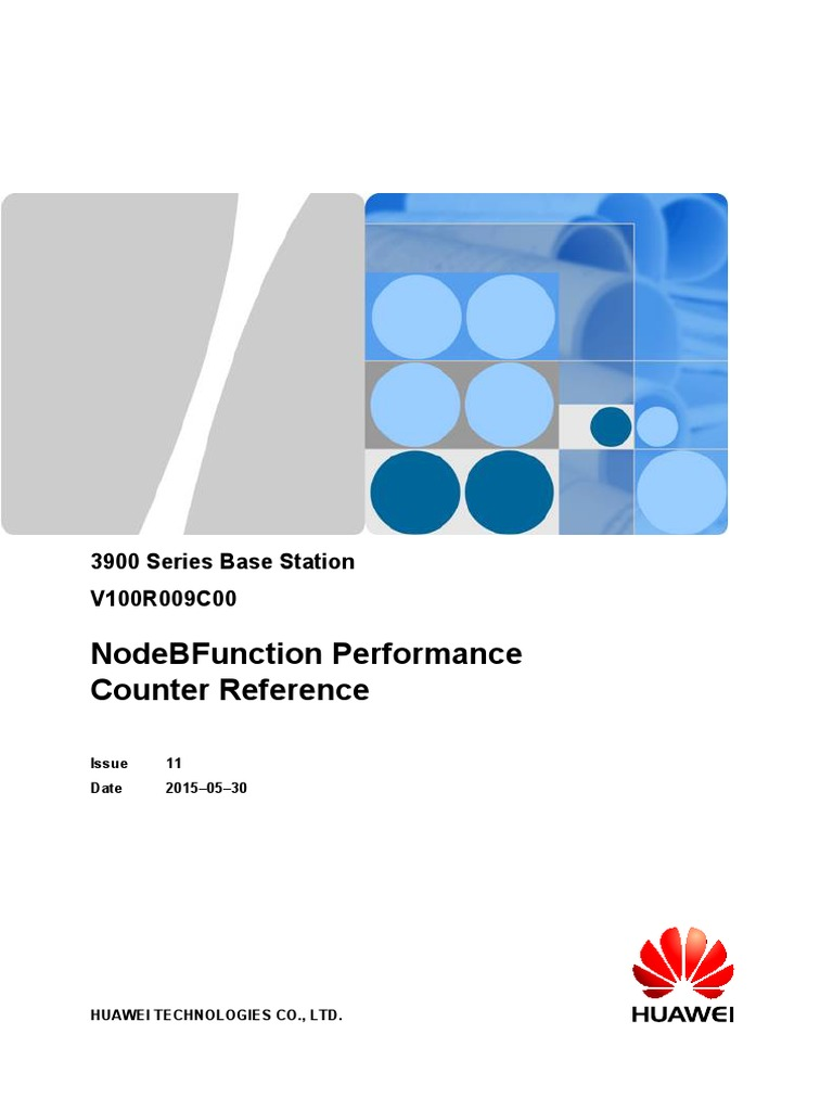 3900 Series Base Station NodeBFunction Performance Counter Reference