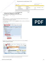 Step by step procedure to change the equipment category in SAP PM.pdf
