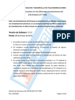 Historial de Actualizaciones RUNCH DTT1900