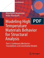 (Advanced Structured Materials 28) Konstantin Naumenko, Holm Altenbach (Auth.)-Modeling High Temperature Materials Behavior for Structural Analysis_ Part I_ Continuum Mechanics Foundations and Constit