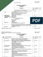 Planificarea calendaristica a cursului de Securitatea sistemelor de calcul si a retelelor de calculatoare