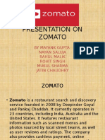 Presentation on Zomato