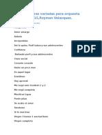 Partituras Variadas Para Orquesta 2015Royman Velásquez Posaune