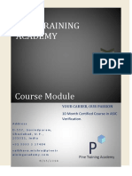 Course Module ASIC Verification