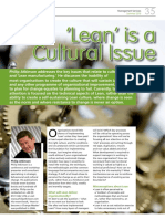 Lean - A Cultural Issue