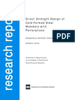 DIRECT STRENGTH DESIGN OF COLD ‐ FORMED STEEL MEMBERS WITH PERFORATIONS- Report - RP09-1.pdf