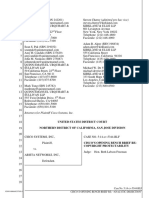 Cisco v. Arista - Cisco's Opening Brief Re Copyright Protectability (Analytic Dissection)