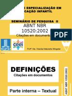 ABNT NBR 10520 de 2002
