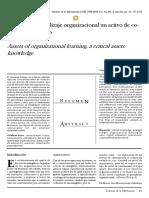 Activos de Aprendizaje Organizacional Un Activo de Conocimiento