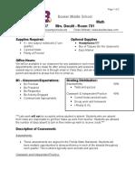 pre-algebra syllabus 2016-17