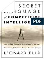 Fuld and Company the Secret Language of Competitive Intelligence Excerpt